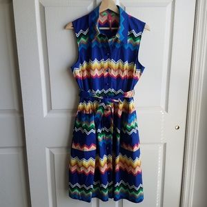 Plenty By Tracy Reese Blue Amy Shirt Dress Size 8